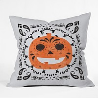Zoe Wodarz Pumpkin Paisley Throw Pillow