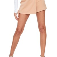 Missguided Side Ring Faux Wrap Shorts   Nordstrom