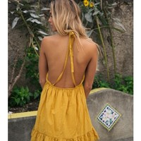 BASTILLE DRESS - Mustard - DRESSES - SHOP NEW