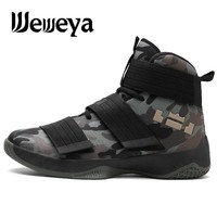Weweya 2018 Basketball Shoes For Men Zapatos Hombre Camouflage Boost Green Basket Homme Shoes Unisex Star Sneakers Ball Super