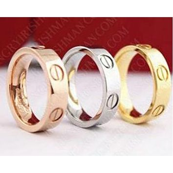 Cartier men and women models trendy fashion couple rings F