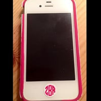 Set of 6 iPhone Home Button Circle Monogram Decals