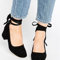 Kurt Geiger Treacle Tie Ankle Kitten heel Shoes at asos.com