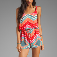 Eight Sixty Tie Waist Romper in Rosarita from REVOLVEclothing.com