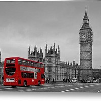 Red London Bus Stretched Canvas Print / Canvas Art By Alice Gosling