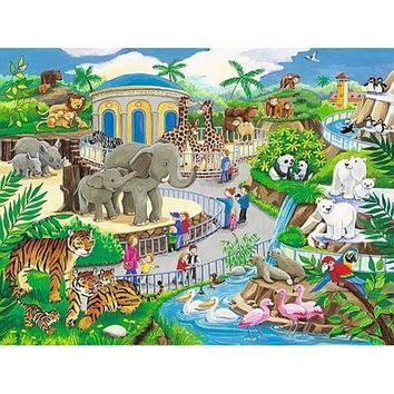 Ravensburger Visit to The Zoo Frame Jigsaw Puzzle - Puzzle Haven