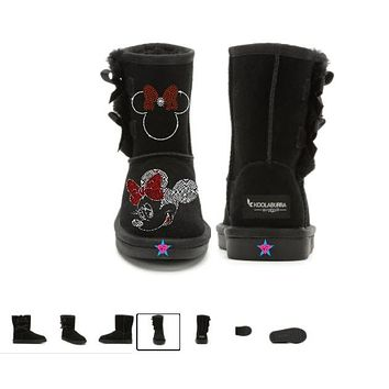 Kid - Bling Rhinestone Minnie Mouse Winter Ugg Snow Boots