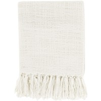 Belize Ivory White Throw Blanket