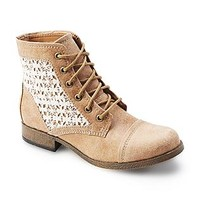 "Route 66 Women's Raleigh 5"" Tan/Lace Combat Boot"