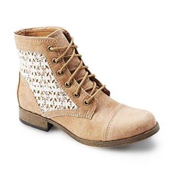"""Route 66 Women's Raleigh 5"""" Tan/Lace Combat Boot"""