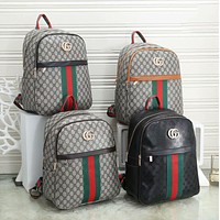 GUCCI Fashion printed backpack anti-theft travel bag with large capacity