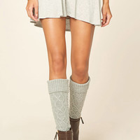 Cable Knit Knee-High Socks