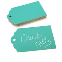 Chalkboard Tags - 20 Count - Turquoise Chalkboard Tag - Chalk Tags - Wedding Favor Tag - Baby Shower Tags - Gift Tag -  3 x 1.75 in