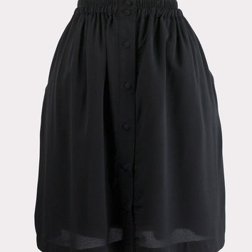 Bree Button Front Skirt