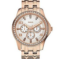 Rose Gold-Tone Polished Glamour Watch   GUESS.com