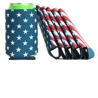 6 pack of American Made Flag Koozies