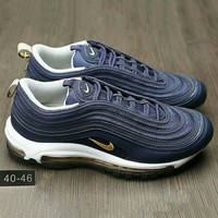 NIKE AIR MAX 97 Fashion Running Sneakers Sport Shoes Navy blue G-HAOXIE-ADXJ
