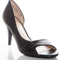 Bamboo Shoes Night At The Opera Open Toe High Heel Pumps - Black