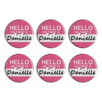 Danielle Hello My Name Is Plastic Resin Button Set of 6