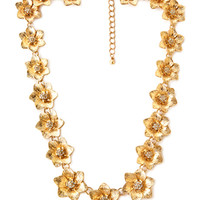 FOREVER 21 Blooming Chain Necklace Gold One