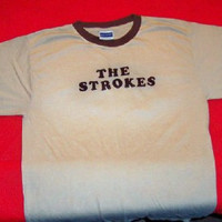 The Strokes T-Shirt XL Ringer Tan Size XL