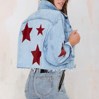After Party Vintage Star-Crossed Denim Jacket
