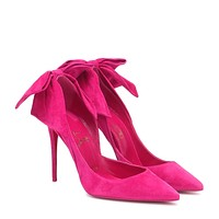 CHRISTIAN LOUBOUTIN Rabakate 100 suede pumps