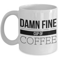 A Damn Fine Cup of Coffee Mug - Coffee Humor - Humorous Coffee Cups
