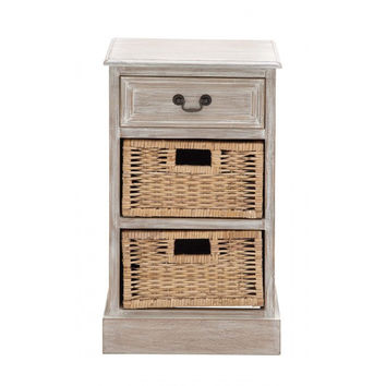 Sun Bleached Double Basket Chest