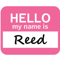 Reed Hello My Name Is Mouse Pad - No. 1
