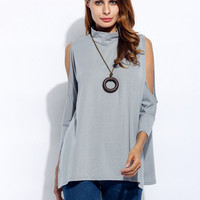 Sexy Off Shoulder Women Spring Autumn Tops 2016 Batwing 3/4 Sleeve Backless T-shirt Loose Tee Shirts Solid Casual T shirt Femme