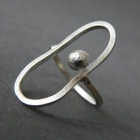 Abstract Ring Sterling Silver Ring Modern Ring Minimalist Ring by SteamyLab