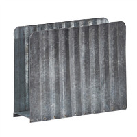 Galvanized Luncheon Napkin Holder