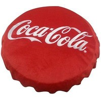 Coca-Cola Coke 15 Inch Embroidered Bottle Cap Pillow