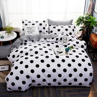 Wave Point Bed Linen Bedding Set Home Textiles 3/4pc Family Sets Include Bed Sheet Duvet Cover Pillowcases Twin Queen King Size