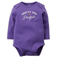 Carter's ''Pretty and Perfect'' Bodysuit - Baby Girl, Size: