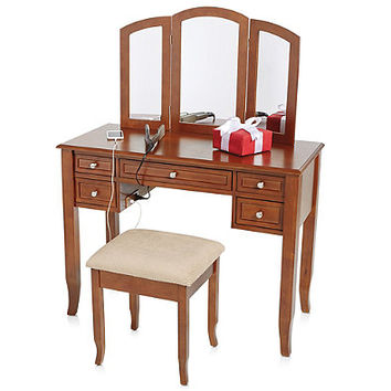 Charlotte 2 Piece Vanity Set with Power from Bed Bath & Beyond