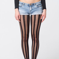 Rock and Roll Striped Sheer Tights