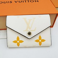 LV Louis Vuitton Color-changing Printed Alphabet Button Key Case Wallet Bag