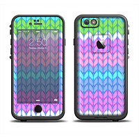 The Bright-Colored Knit Pattern Apple iPhone 6/6s LifeProof Fre Case Skin Set