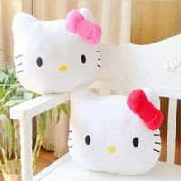 1Pc 40cm Cute Lovely Juguetes Pillow Soft Stuffed Hello Kitty  Plush Toys Cushion Soft Toy For Kid Girl's Gifts