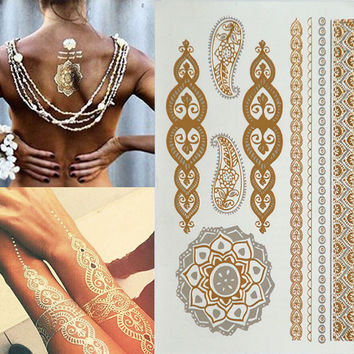 Golden Boho body art