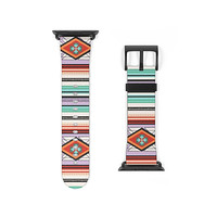 Tribal Aztec Faux Leather Apple Watch Band