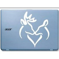 Deer Love Automobile Tablet Decal Tablet PC Sticker Wall Laptop mobile truck Notebook macbook Iphone Ipad Car Window Decal