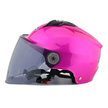 Motorcycle Motor Bike Scooter Safety Helmet 318   rose red