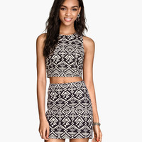 Jacquard-weave Top - from H&M