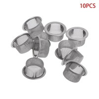 10Pcs Tobacco Smoking Pipe Metal Filter Screen Steel Mesh Concave Bowl Style