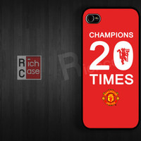 Manchester United Case iPhone 4 Case iPhone 4s Case iPhone 5 Case idea case red football