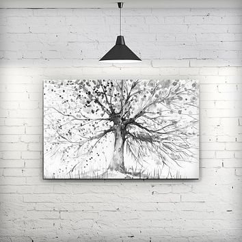 Abstract Black and White WaterColor Vivid Tree - Fine-Art Wall Canvas Prints