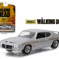 """1971 Pontiac GTO Silver \The Walking Dead\"""" TV Series Episode 1.01 (2010-2015) 1/64 Diecast Model Car by Greenlight"""""""